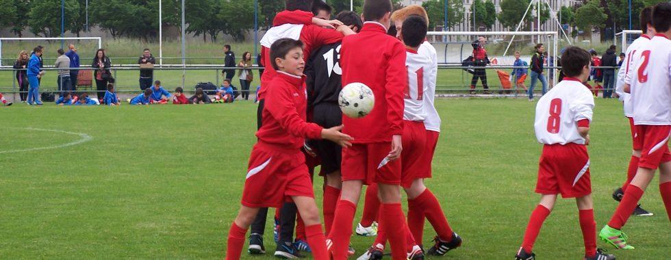 Celebracion victoria infantil f11 ante Alaves