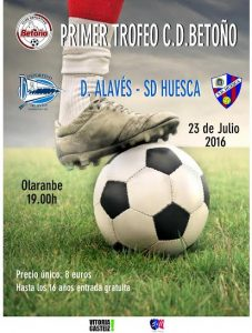 cartel amistoso Alaves-Huesca