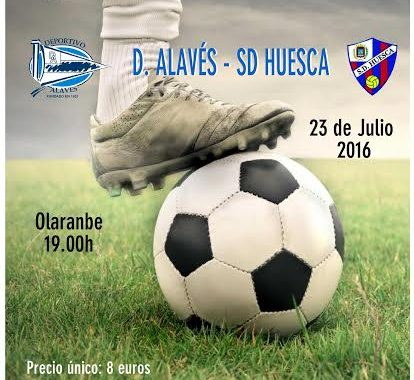 cartel amistoso Alaves-Huesca