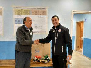 Javi Garamendi con Jaime Bobadilla del Banco Alimentos